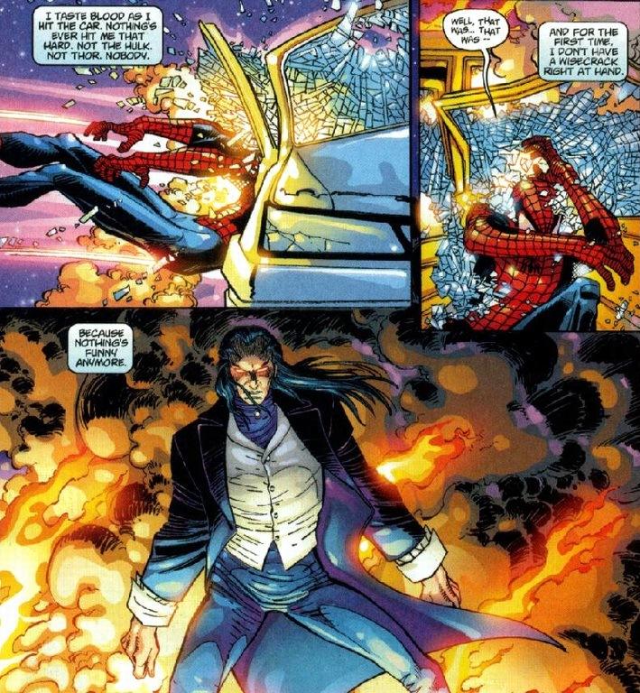 Half Spider Half Man Spider-Man takes on Mo...