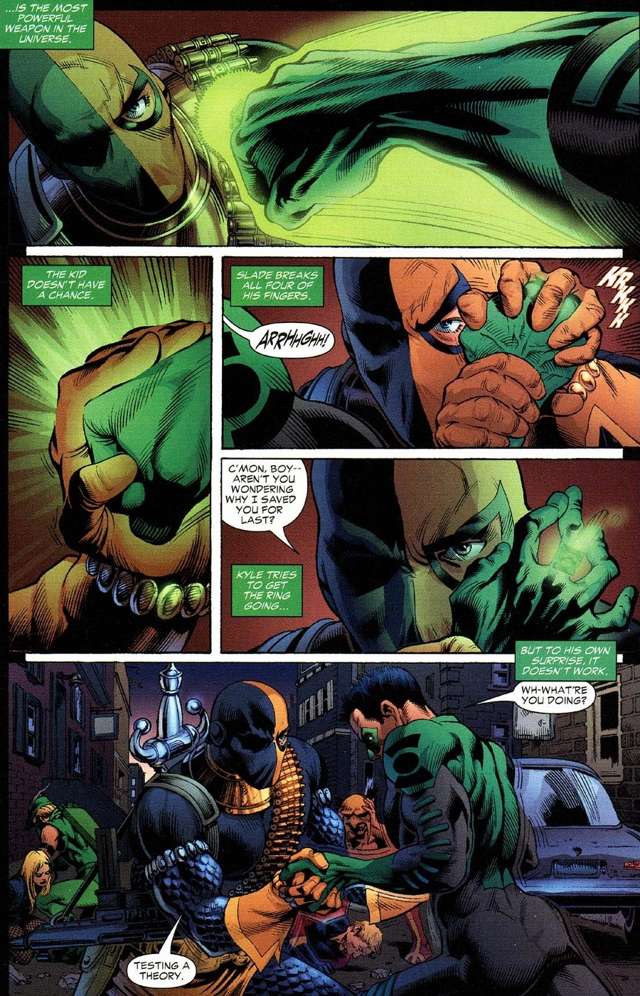 Deathstroke fights the entire JLA | Arousing Grammar | 900 x 1400 jpeg 601kB