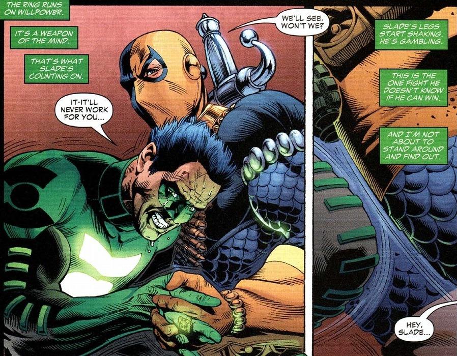 Deathstroke fights the entire JLA | Arousing Grammar | 898 x 700 jpeg 308kB