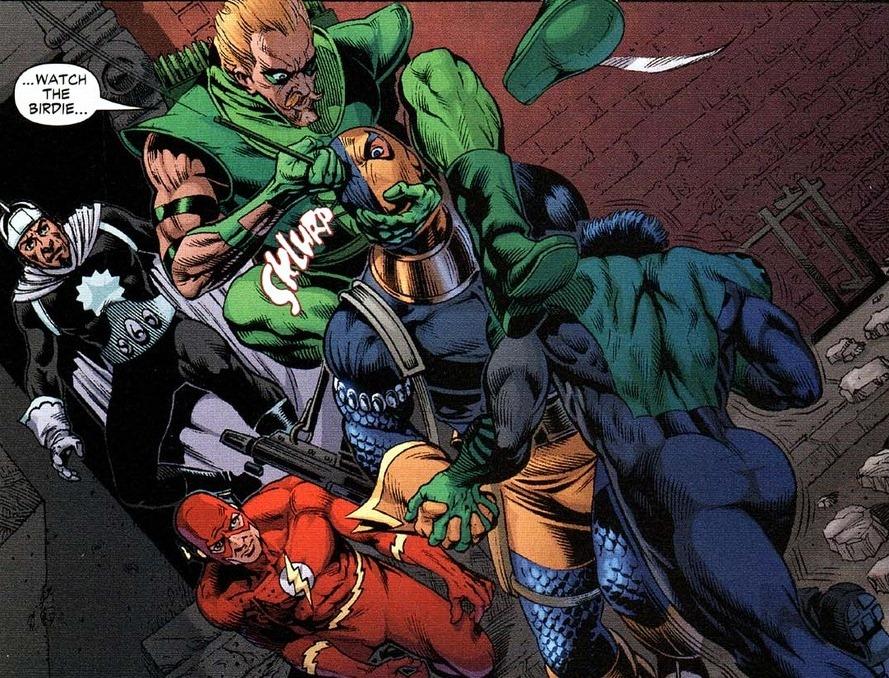 Deathstroke fights the entire JLA | Arousing Grammar  Deathstroke Vs Green Lantern