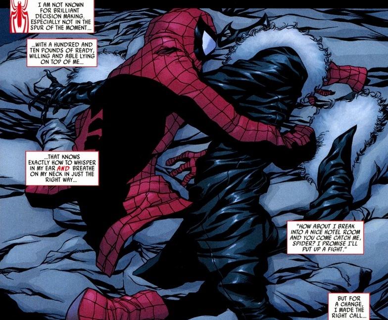 black cat spiderman: