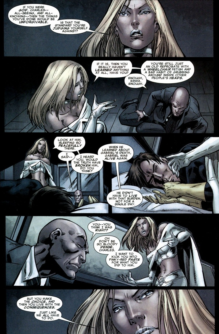 X Men Cyclops And Emma Frost Professor X vs. Cyclop...