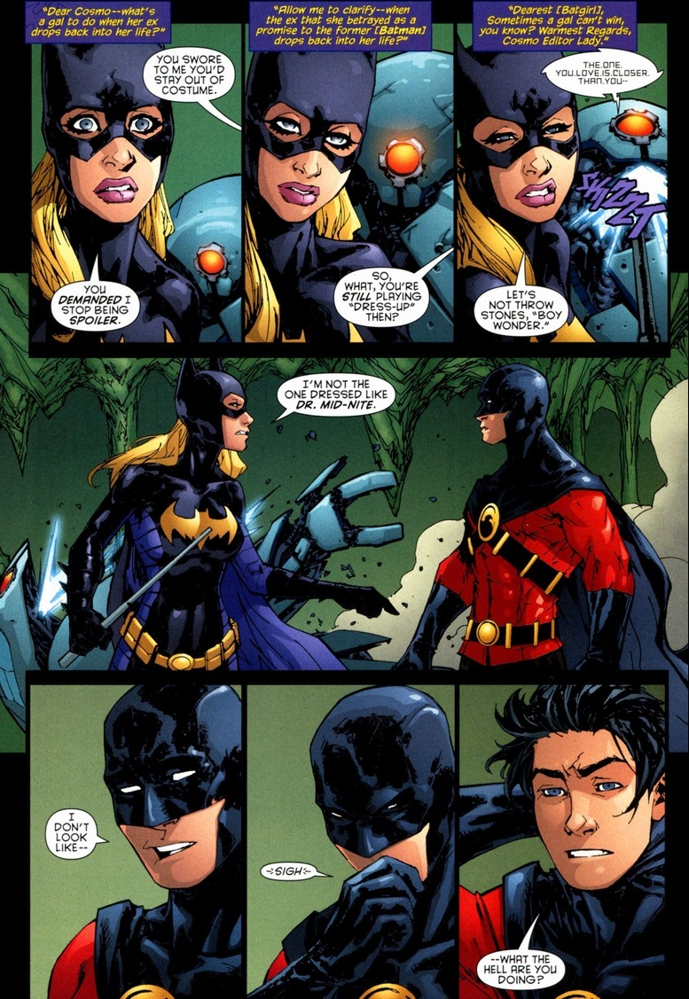 Batgirl and robin love