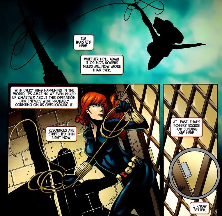 Black Widow Captain America Comic Black Widow Captain America