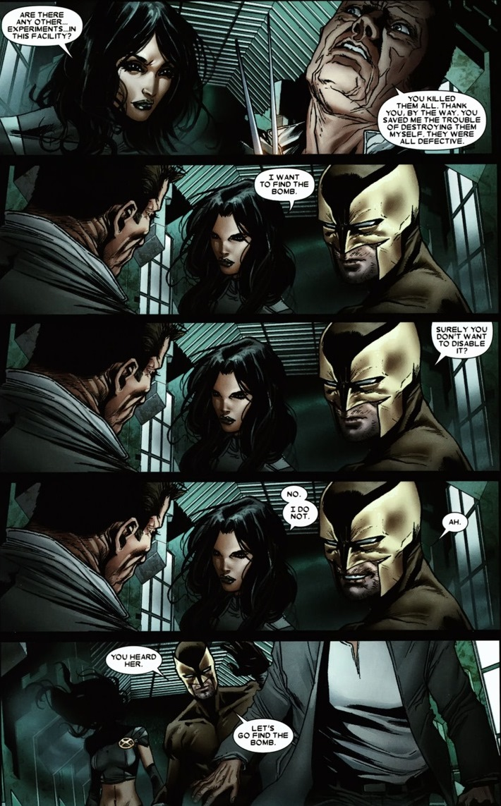 present one of the coolest pages I   ve ever seen in comics  You    X 23 Daken