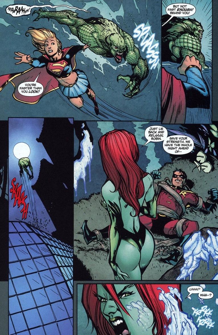 Robin Supergirl Take On Arkham Asylum Arousing Grammar