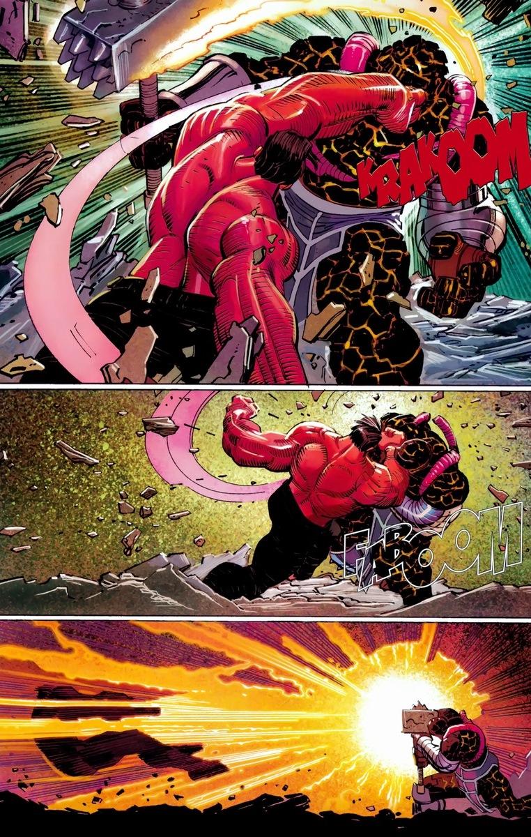 Gallery For > Doomsday Vs Red Hulk Red Hulk Vs Doomsday