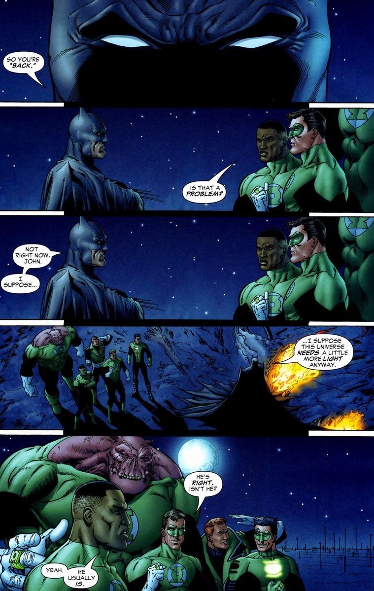 Batman With Green Lantern Ring Comic