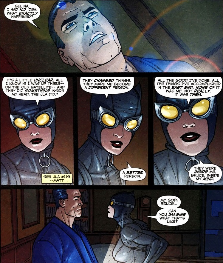 Catwoman, Batman, Zatanna, and the mind-wipe, Pt. 2 ...