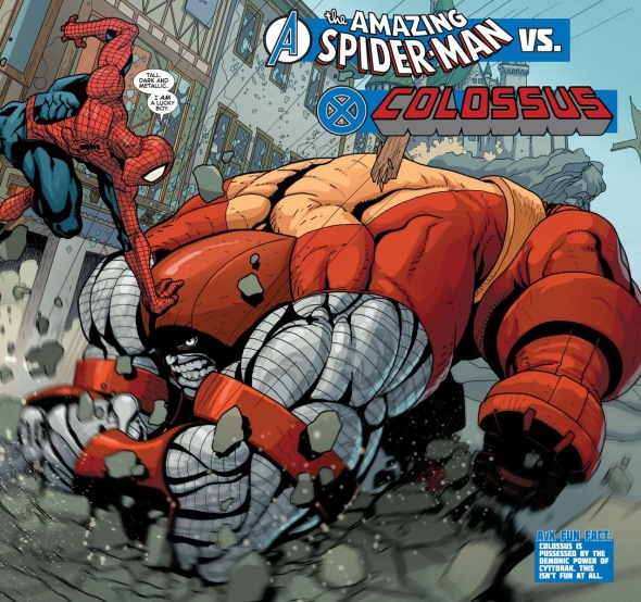 SpiderManColossusBattle1
