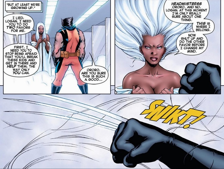 Wolverine and storm married