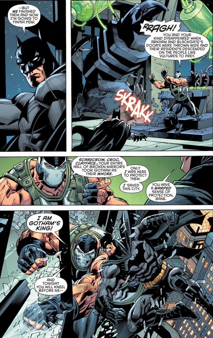 Batman Vs Bane New 52 Arousing Grammar