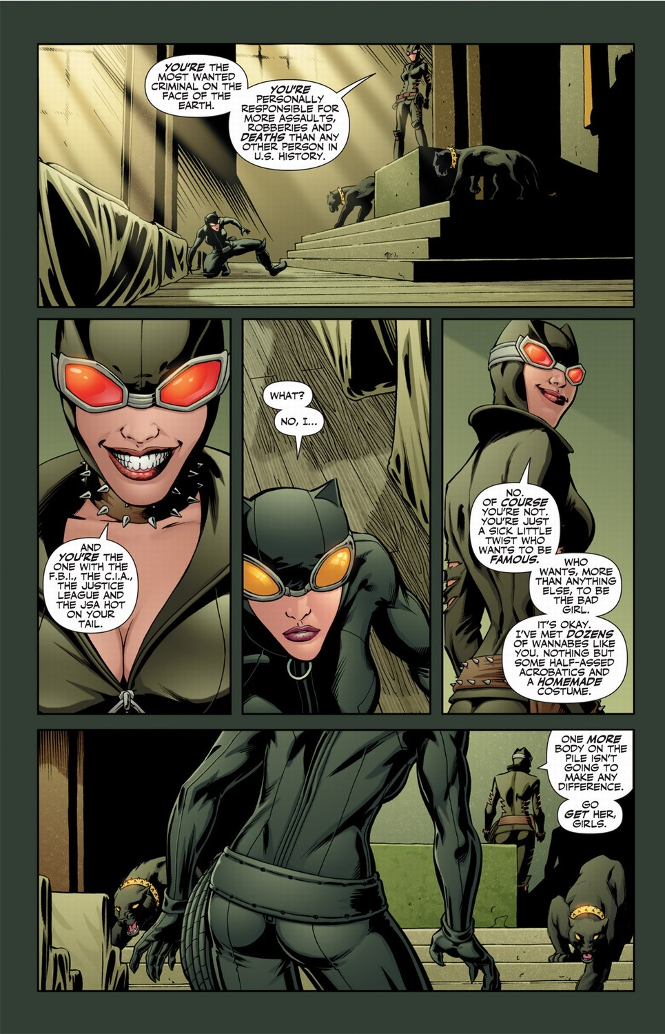 This Catwoman canu0027t afford to repair her costume yet can afford to feed two grown panthers? Plus u2014 while totally cool u2014 a clawed up costumeu0027s impractical.  sc 1 st  Arousing Grammar & Catwoman with superpowers Pt. 1 | Arousing Grammar